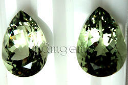 Green Amethyst Pear Gemstone