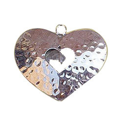 Brass Hanging Heart