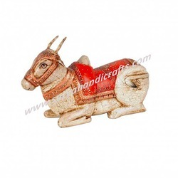 Wooden Panting Cow