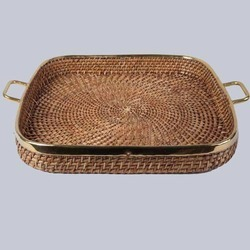 Square Cane Tray with Handles