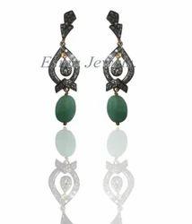 Emerald Designer Diamond Earring