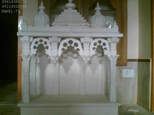 Home mandir designer makrana marble temple manufacturer from makrana for Marble temple designs for home