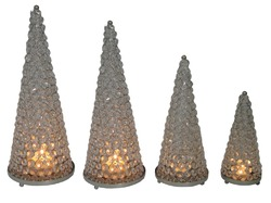 Crystal Christmas Cones