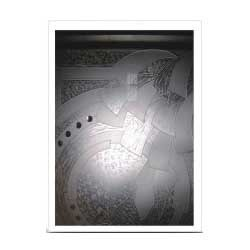 Etching Glass with Stain & Pasting