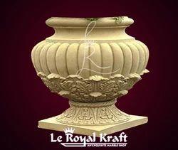 Sandstone Carved Urn