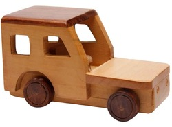 Brown Wooden Road Racer Toy
