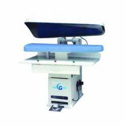 Megha White & Blue Flat Bed Press Iron, Automation Grade: Automatic, Capacity: 500-600