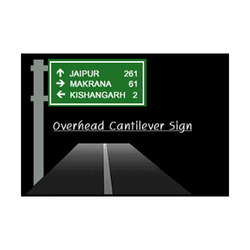 Overhead Cantilever Sign