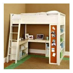 Wooden Boy Bunker Bed With Study Table