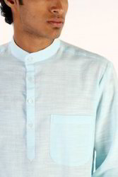 Mens Casual Slub Khadi Long Kurta