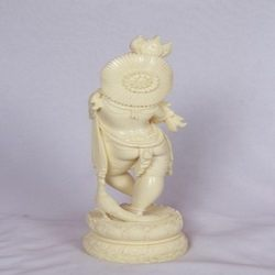 Krishna Synthetic Ivory Items Statue