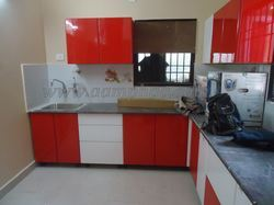 Kitchen with RED colour