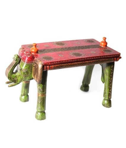Vaah Wooden Elephant Bench