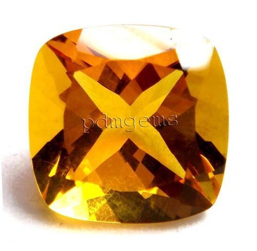 Natural Golden Yellow Citrine 3mm x 3mm Square Princess Cut Gem Gemstone