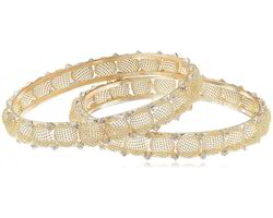 Cynosure By Gauri Golden Stone Bangles