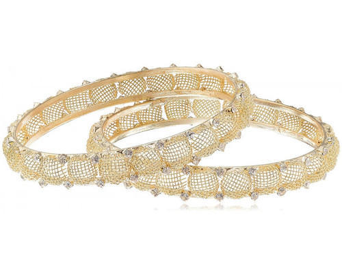 Cynosure By Gauri Golden Stone Bangles