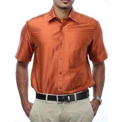 Light Orange Silks Shirts