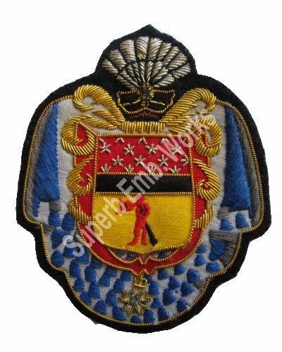 Hand Embroidered Blazer Badges - Handmade Embroidered