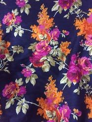 Purple Cotton Silk Art Raw Silk Print Fabric Use Garments Rs