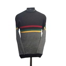 Men Lined Acrylic Sweater