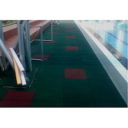 Swimming Pool Desk Area Rubber Flooring