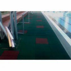 Swimming Pool Desk Area Rubber Flooring