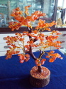 Red Crystal Tree, Size: 5.3 X 3.9 X 3.2 Inches