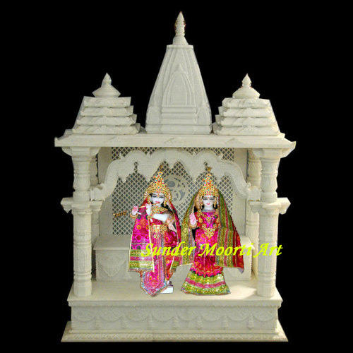 Marble Temple Marble Temple With Radha Krishna Statue