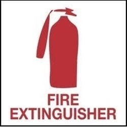 Fire Extinguisher Signage