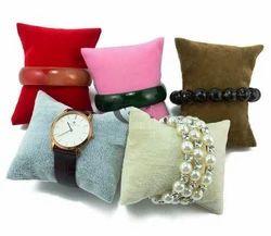 Small Velvet Bracelet Watch Necklace Display Pillows