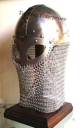 Armor Helmet With Chain Mail