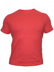 Mens Polyester Red T Shirt, Size: S - XL