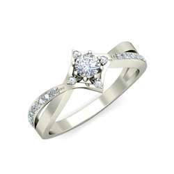 Natural Diamonds Solitaire Ring