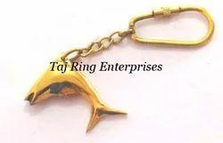 Brass Fish Key Ring