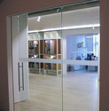 Etching Sliding Glass Door