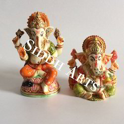 Hand Carved and Painted Ganesha