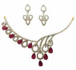 Yellow Gold Bridal Diamond Necklace