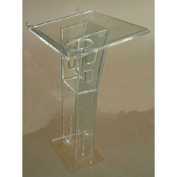 Clear Acrylic Pulpit Stand, For Functions