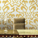 Multicolored Gold And Silver Mosaic Tiles