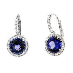 Fancy Tanzanite Earrings