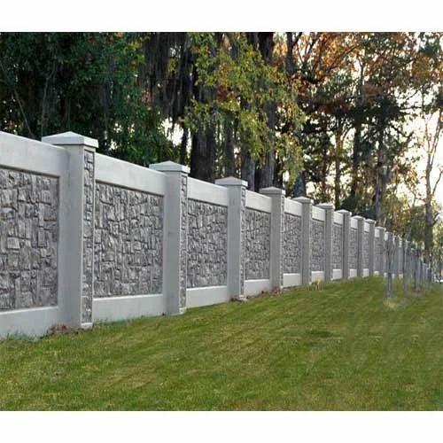 Concrete Boundary Wall कंक्रीट कंपाउंड वॉल Technocraft