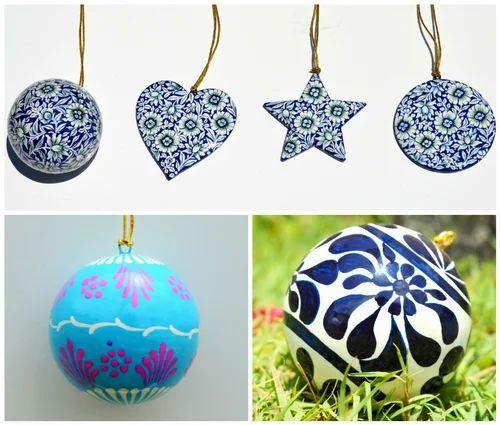 Paper Mache Christmas Ornaments