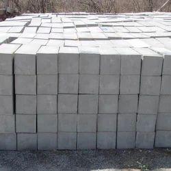 Rectangular Gray Cellular Lightweight Concrete Brick