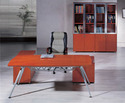 Wooden And Stainless Steel Rectangular Imported Office Table