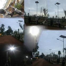 Eminent mega Solar LED street lighting project Singaperumal Koil near Chennai,T.N