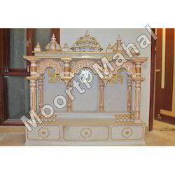 Gold Work Marble Temple