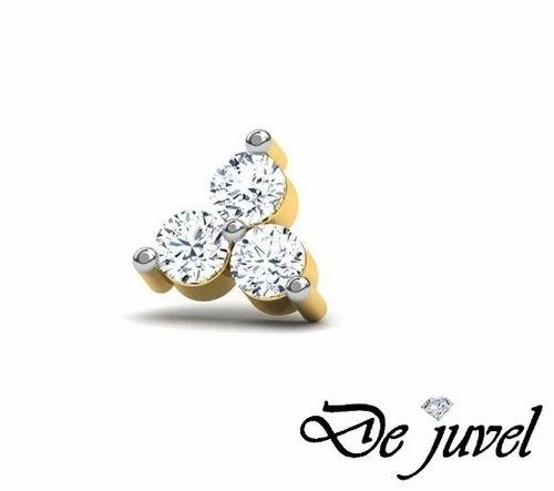 Diamond Nose Pin At Rs 4300 Piece Diamond Nose Pin Id 6894538548