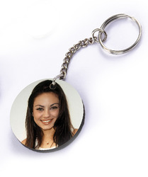 MDF Sublimation Photo Keychain