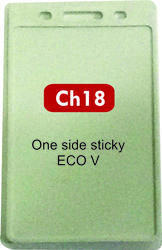 LC One Side Stickly Eco Vertical Plastic ID Card Holder CH 18