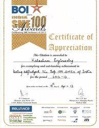 SME Awards Certificate of Appreciation